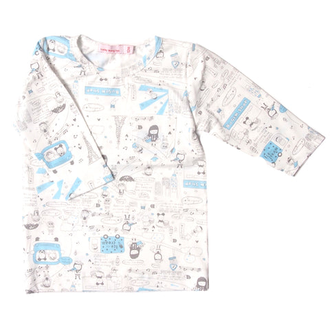 Hello!     city infant tee l/s