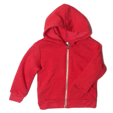 triblend infant hoodie red