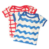Noe terry infant  tee waves blue