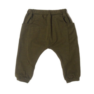 Classic LW Sarouel Infant Pants in olive.