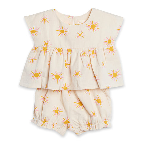 Siaomimi Layette Set Cresam Sun. Top with diaper cover.