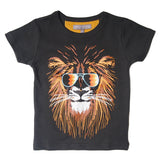 Milk On The Rocks Groovy Lion Tee. Slim body fit.