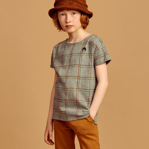 Mainio Check tee seagrass