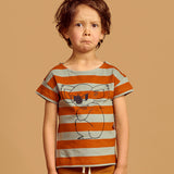 Mainio Koala stripe tee brown