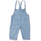 Overall cropped stripes blue