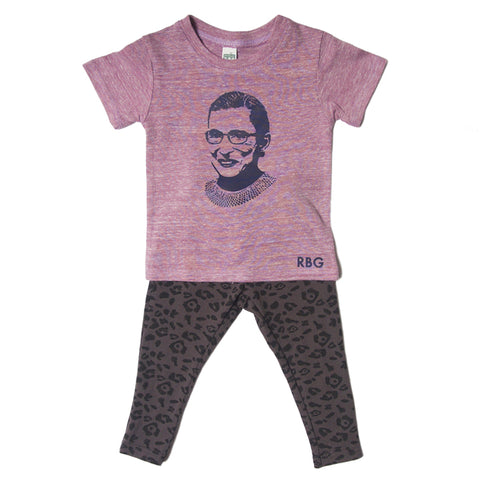 RBG tri purple infant tee