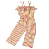 Soft Gallery France long stripe jumper with two adjustable shoulder straps.