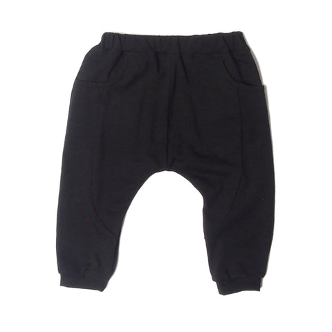 Classic LW Sarouel Infant Pants in black.