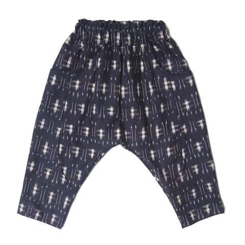 Classic LW Sarouel Infant Pants in Kasuri Indigo.