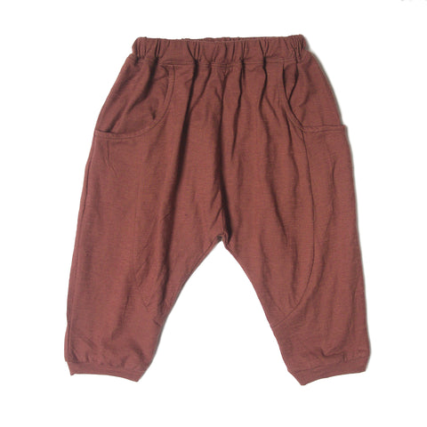 Classic LW Sarouel Infant Pants in brown.