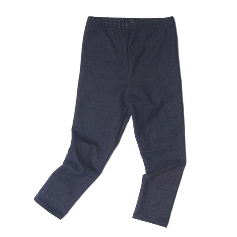 Denim jersey toddler leggings