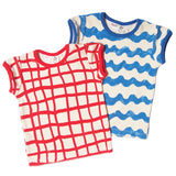 Noe terry tee toddler waves blue