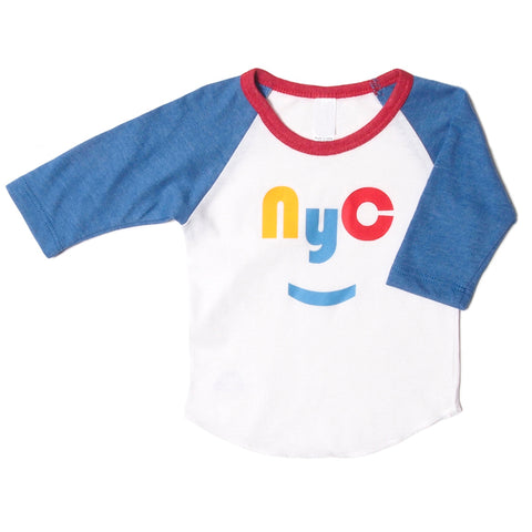 Red/Yellow NYC Raglan Baby