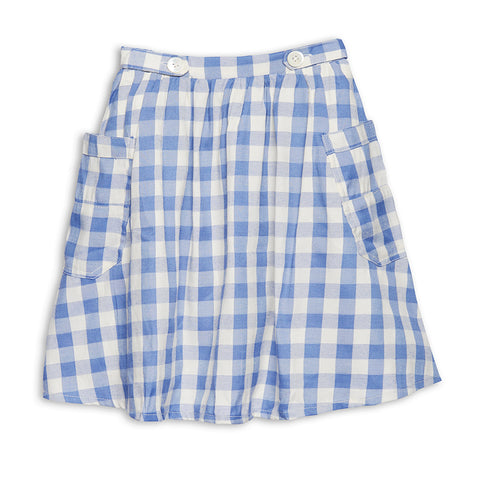 Wander & Wonder 2-Pockets Skirt Sky Check.