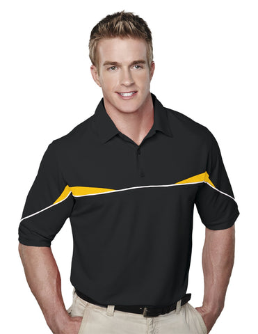 Tri-Mountain Mens Short Sleeves Knit Polo Shirt 050