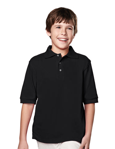 Tri-Mountain Youth Short Sleeve Pique Golf Shirt 090