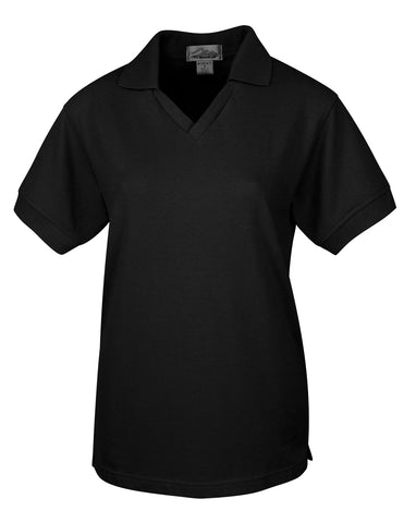 Tri-Mountain Venice Womens V-Neck Pique Polo Shirt 101
