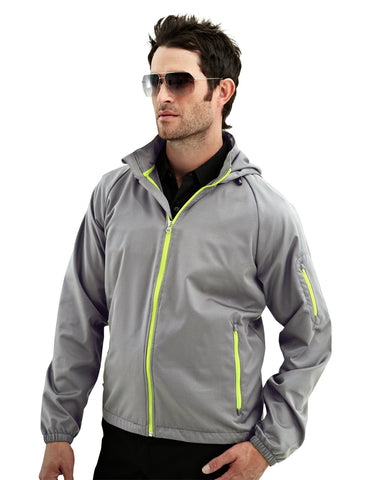 Tri-Mountain CF1 Mens Water Resistant Hooded Jacket 1730