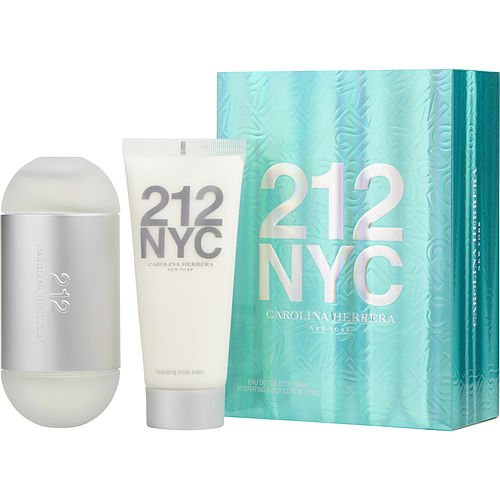 WOMEN EDT SPRAY 3.4 OZ & BODY LOTION 3.4 OZ (TRAVEL OFFER) 212 by Carolina Herrera
