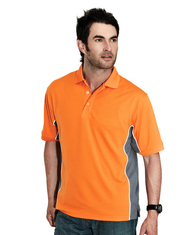 Tri-Mountain TMR GT2 Mens Polyester Rib Collar Polo Shirt 226