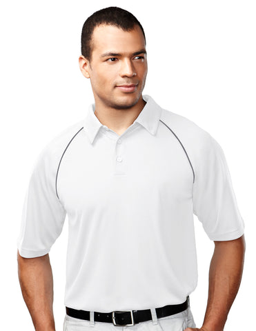 Tri-Mountain Dauntless Mens Raglan Knit Polo Shirt 227