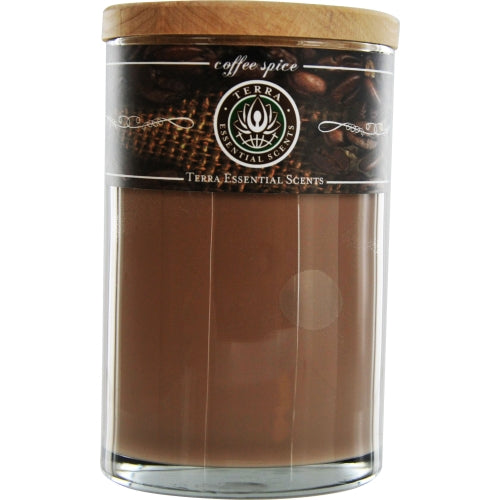 Unisex One 12Oz Pillar, Aromatherapy Candle. 40 Hrs. By Coffee Spice Aromatherapy