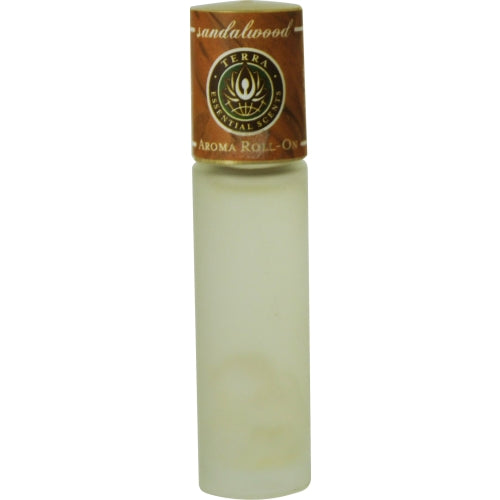 Unisex Sandalwood Aroma Roll On - By Terra Essential Scents