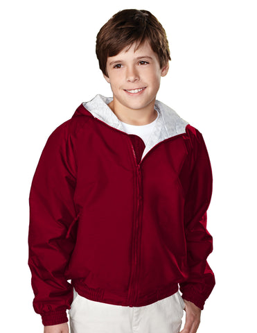 Tri-Mountain Bay Watch Youth Nylon Hooded Jacket 3500