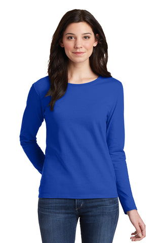 Gildan Ladies Heavy Cotton ™ 100% Cotton Long Sleeve T-Shirt. 5400L