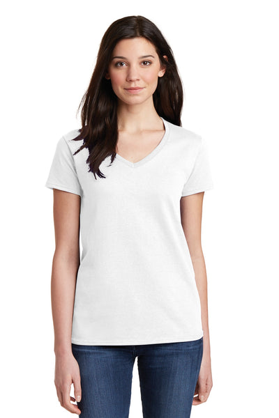 Gildan Ladies Heavy Cotton ™ 100% Cotton V-Neck T-Shirt. 5V00L