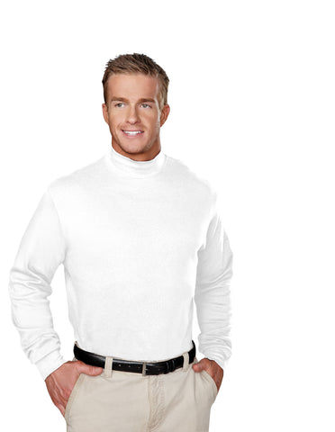 Tri-Mountain Graduate Cotton Mens Interlock Mock Turtleneck Shirt 620
