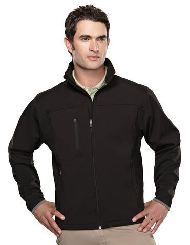Tri-Mountain Flight Mens Poly Stretch Bonded Soft Shell Jacket 6400