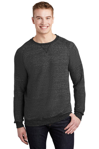 JERZEES Snow Heather French Terry Raglan Crew 91M