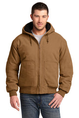 CornerStone Washed Duck Cloth Insulated Hooded Work Jacket. CSJ41