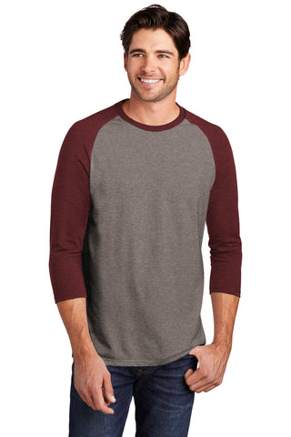 District Perfect Tri 3/4-Sleeve Raglan. DM136