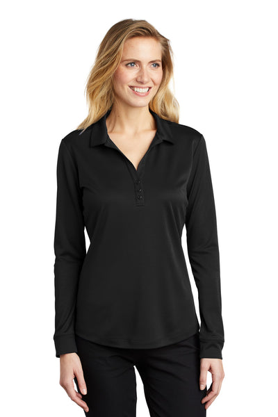 Port Authority Ladies Silk Touch ™  Performance Long Sleeve Polo L540LS