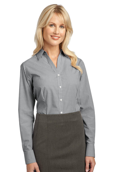 Port Authority Ladies Plaid Pattern Easy Care Shirt. L639