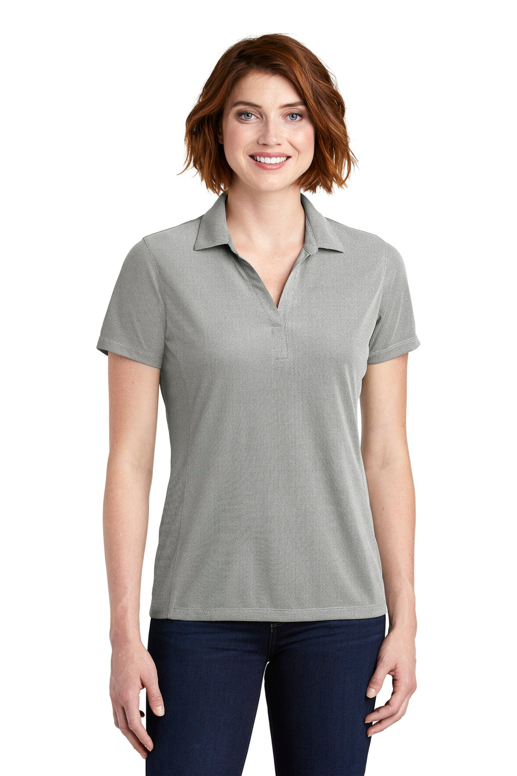 Port Authority Ladies Poly Oxford Pique Polo. LK582