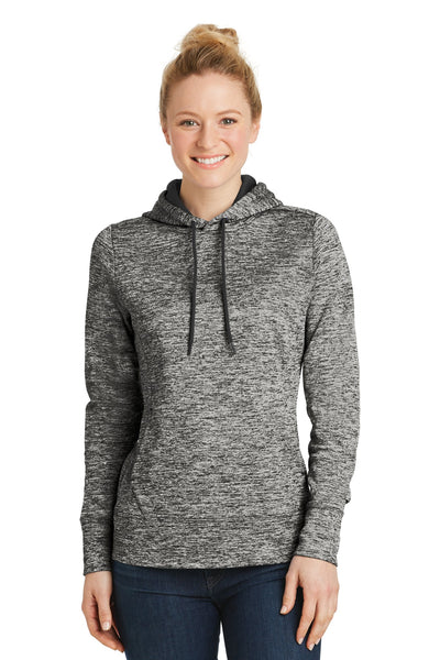 Sport-Tek Ladies PosiCharge Electric Heather Fleece Hooded Pullover LST225