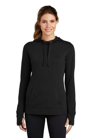 Sport-Tek Ladies PosiCharge Tri-Blend Wicking Fleece Hooded Pullover LST296