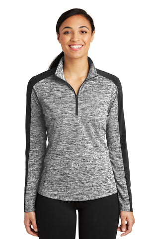 Sport-Tek Ladies PosiCharge Electric Heather Colorblock 1/4-Zip Pullover LST397