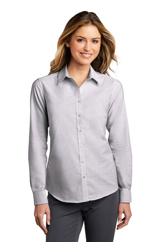 Port Authority Ladies SuperPro ™ Oxford Stripe Shirt LW657