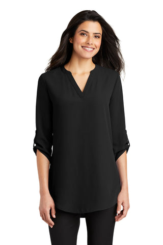 Port Authority Ladies 3/4-Sleeve Tunic Blouse. LW701