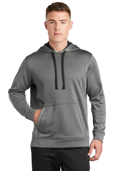 Sport-Tek PosiCharge Sport-Wick Heather Fleece Hooded Pullover ST264