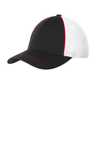 Sport-Tek Piped Mesh Back Cap STC29