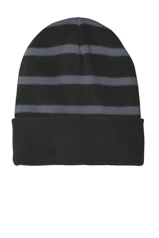 Sport-Tek Striped Beanie with Solid Band STC31