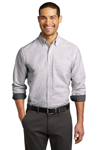Port Authority SuperPro ™ Oxford Stripe Shirt W657