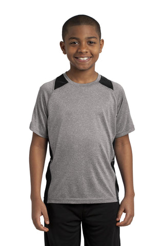 Sport-Tek Youth Heather Colorblock Contender ™ Tee YST361