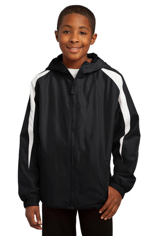 Sport-Tek Youth Fleece-Lined Colorblock Jacket YST81