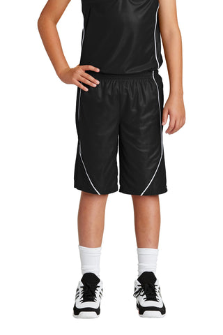 Sport-Tek Youth PosiCharge Mesh Reversible Spliced Short YT565